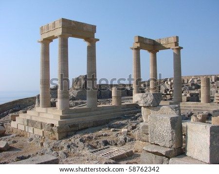 Rhodos Greek Island and temple