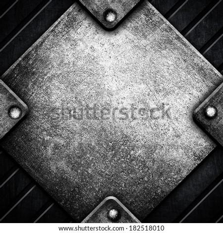 rhombus metal sign background - stock photo