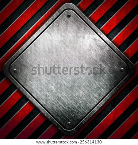 rhombus on stripes background - stock photo