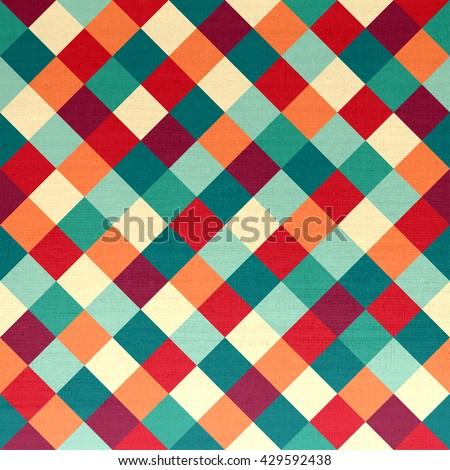 Rhombus seamless colorful pattern - stock photo