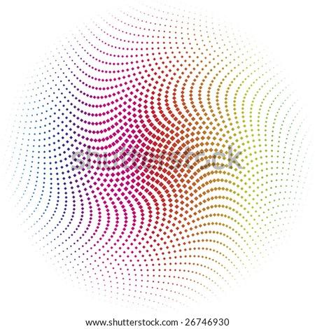 rhombus spectrums dots - vector design element - stock photo