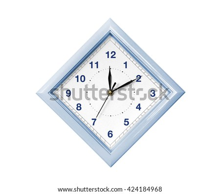 Rhombus wall clock - stock photo