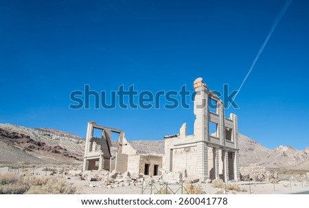 Rhyolite ghost town, death valley national park - stock photo