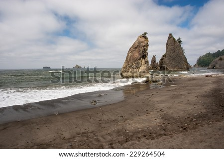 Rialto beach, Olympic National Park, WA, USA - stock photo