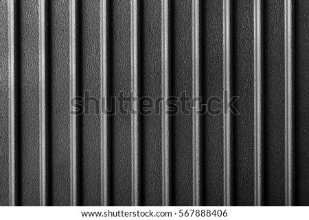 Ribbed Cast Iron Surface Metal Texture Stock Photo