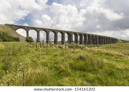 Ribblehead Viaduct.  Yorkshire Dales. Yorkshire. England. UK.
