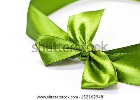 ribbon bow on white background - stock photo