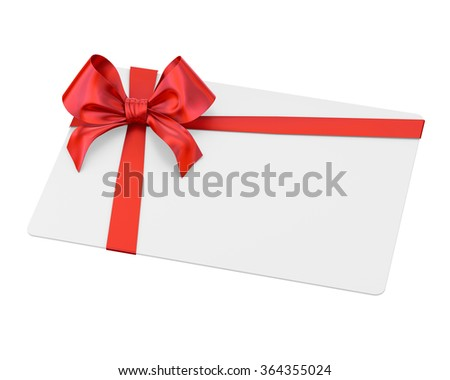 ribbon bow on white background 3d render