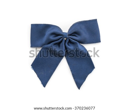 ribbon bow tie on white background
