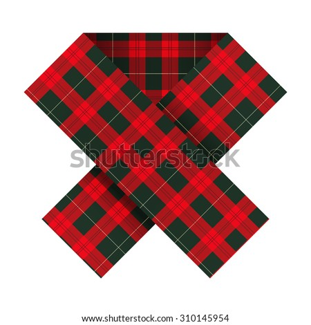 Ribbon with texture in the cell tissue to support the Scottish referendum. Illustration Isolated on white background. - stock photo