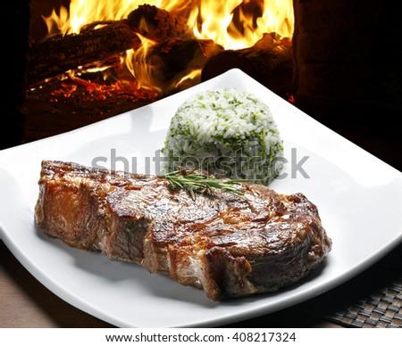 Ribe steak - stock photo