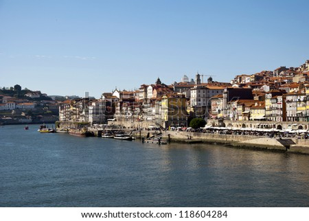 Ribeira, old part of Porto with Douro river