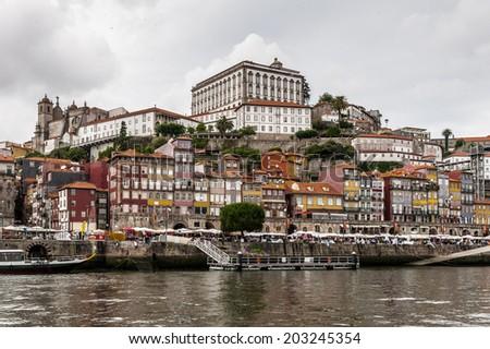 Ribeira quarter, Valley Douro, traditional sight, UNESCO World Heriatge site. - stock photo