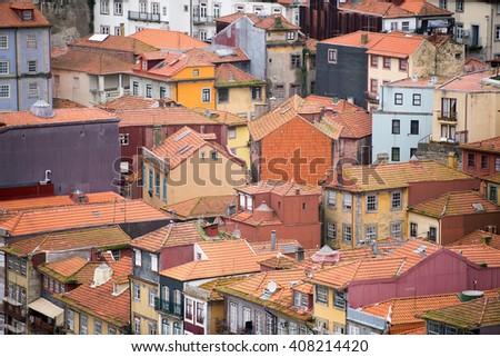 Ribeira, the old town of Porto, Portugal - stock photo
