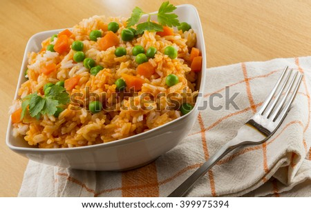 Rice and vegetables  - stock photo