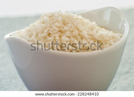 rice close up in  bowl - stock photo