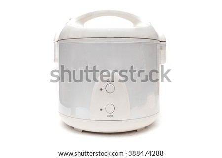 Rice Cooker on White Background - stock photo