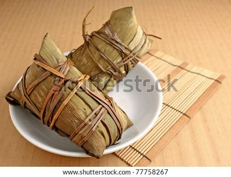 Rice dumpling for dragon boat festival - stock photo
