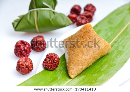 rice dumplings, Chinese Traditional food - stock photo