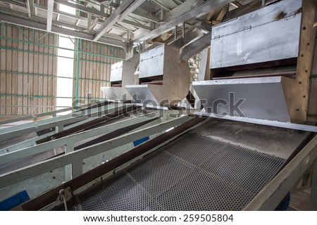 Rice grader machine in Ricemill factory - stock photo