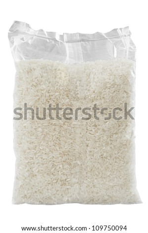 Rice pack isolated over white background - stock photo