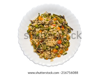 rice risotto with mushrooms - stock photo