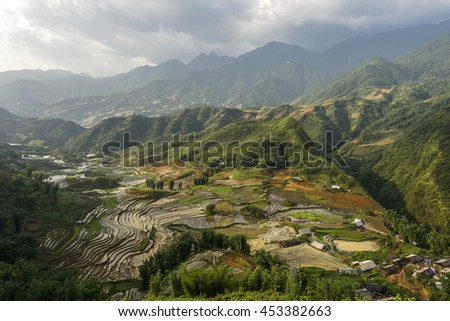 Rice terraces in sapa District, Lao Cai Province, Northwest Vietnam.