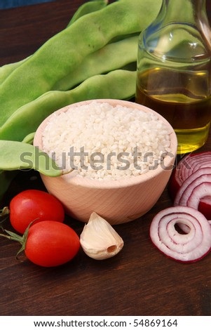 rice with french bean - stock photo