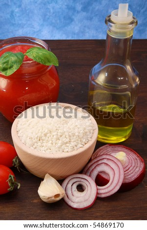 rice with tomatoes - stock photo