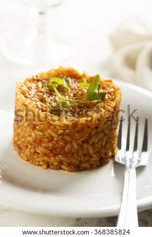 Rice with tomatoes and spices