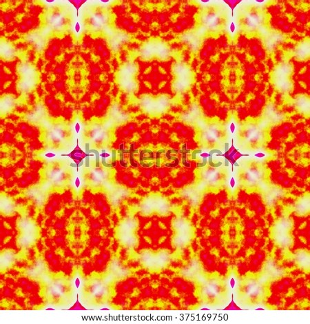 Rich abstract colorful ornament. Seamless pattern or textures. Kaleidoscopic orient popular style  - stock photo