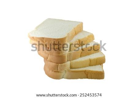 Rich and Soft sliced Bread ingredients wheat flour, sugar, margarine, egg, yeast, milk powder, iodized salt - stock photo