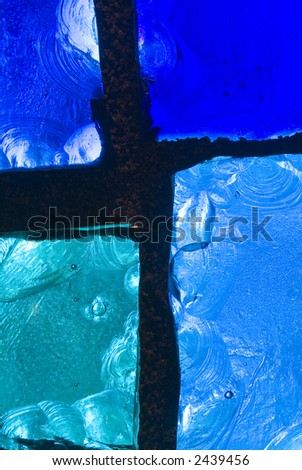 Rich colored stain glass panels background 04 - stock photo