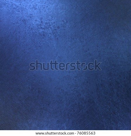 rich deep blue background or blue paper with vintage grunge texture, soft lighting, and copy space for July 4th background or baby boy birth announcement - stock photo