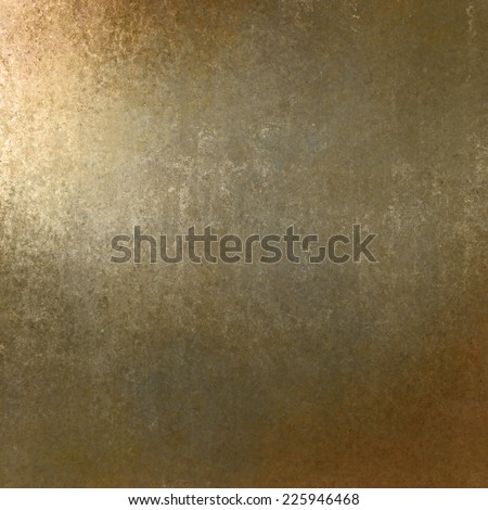 rich pale gold brown background with grunge texture border, light bright corner spotlight or sunshine pattern on wall. vintage shadow black frame design, old distressed shabby background layout  - stock photo