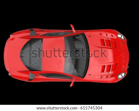 Car Top View On Red Carpet Stock Vector Shutterstock