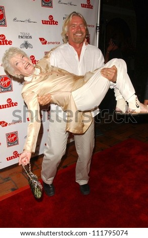 Richard Branson and Eve Branson at Rock The Kasbah presented by Virgin Unite. Roosevelt Hotel, Hollywood, CA. 07-02-07 - stock photo