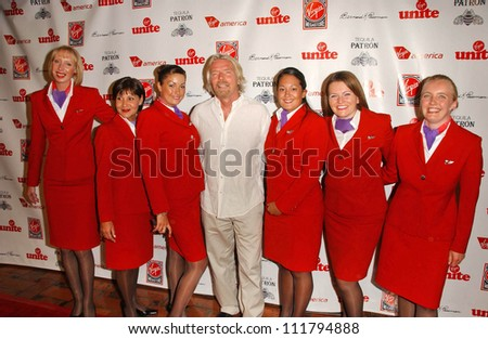 Richard Branson at Rock The Kasbah presented by Virgin Unite. Roosevelt Hotel, Hollywood, CA. 07-02-07 - stock photo