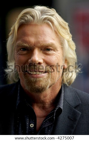 Richard Branson stops by The Late Show With David Letterman on September 28, 2006 in New York City.   © Leon / RD / Retna Ltd. - stock photo