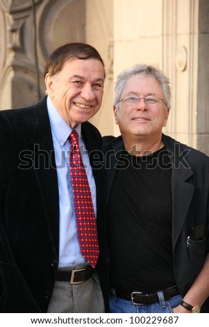 Richard Sherman and Alan Menken at the Alan Menken Hollywood Walk of Fame Star Ceremony, El Capitan Theater, Hollywood, CA. 11-10-10