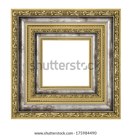richly decorated frame with isolated on white  - stock photo