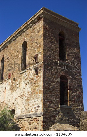 Richman's Engine House at Moonta - stock photo