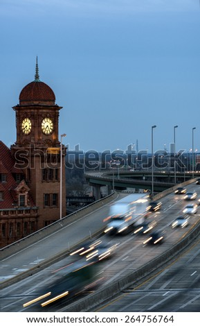 Richmond Historic Clock Tower on the National Landmark Listing - stock photo