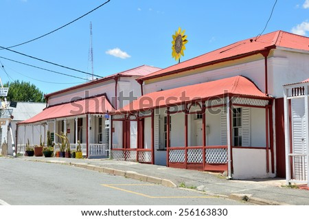 RICHMOND, SOUTH AFRICA - DECEMBER 1ST,2014: Historic houses used as guest houses in Richmond, Northern Cape Province of South Africa