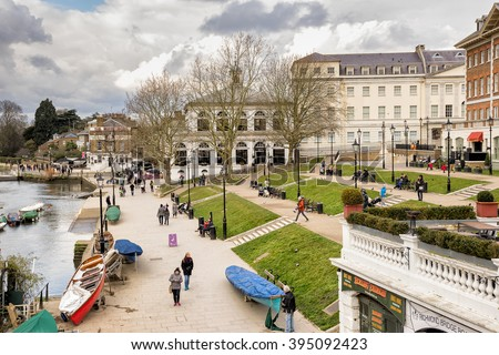 Richmond Upon Thames, England on 6th March 2016:The London Borough of Richmond upon Thames in London, forms part of Outer London and is the only London borough on both sides of the River Thames.