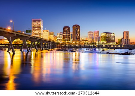 Richmond, Virginia, USA downtown city skyline. - stock photo