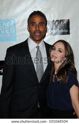 "Rick Foxx and Eliza Dushku at the ""Peace Over Violence"" 39th Annual Humanitarian Awards, Beverly Hills Hotel, Beverly Hills, CA. 10-29-10"