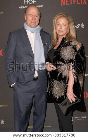 Rick Hiltoni and Kathy Hilton arrive at the Weinstein Company and Netflix 2016 Golden Globes After Party on Sunday, January 10, 2016 at the Beverly Hilton Hotel in Beverly Hills, CA.  - stock photo