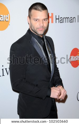 Ricky Martin at The Recording Academy and Clive Davis Present The 2010 Pre-Grammy Gala - Salute To Icons, Beverly Hilton Hotel, Beverly Hills, CA. 01-30-10 - stock photo