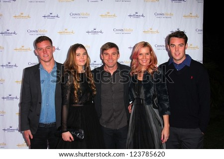 Ricky Schroder and family at the Hallmark Channel and Hallmark Movie Channel Winter 2013 TCA Gala, Huntington Library and Gardens, San Marino, CA 01-04-13